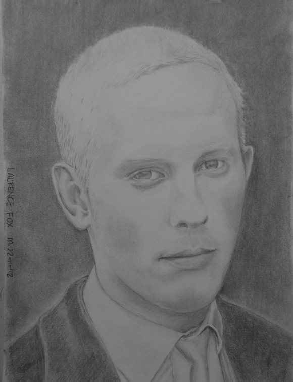 Portrait Drawing And Other Art Laurence Fox As Ds James Hathaway In